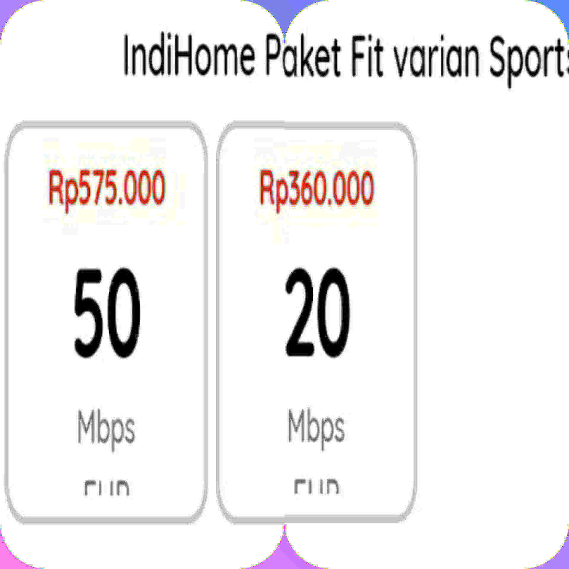 indihome fit varian sports